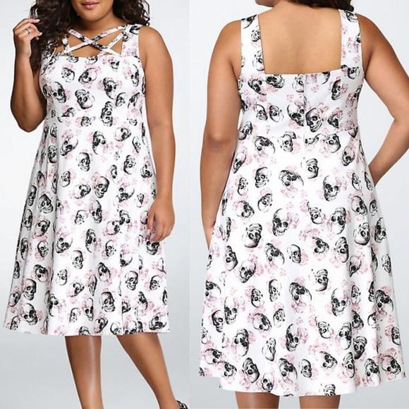 429f65fd7f00f torrid Dresses | 22 Skull Lattice Swing Dress | Poshmark